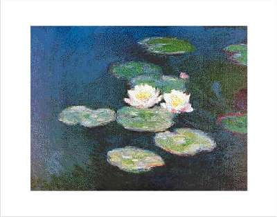 Water-Lilies, evening effect by Claude Monet